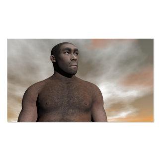 Male homo erectus business card