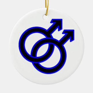 Male Homosexual Symbol Ceramic Ornament