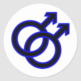 Male Homosexual Symbol Classic Round Sticker