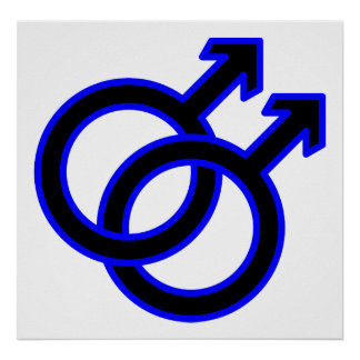 Male Homosexual Symbol Poster