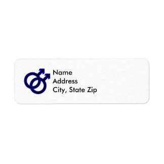 Male Homosexual Symbol Return Address Label
