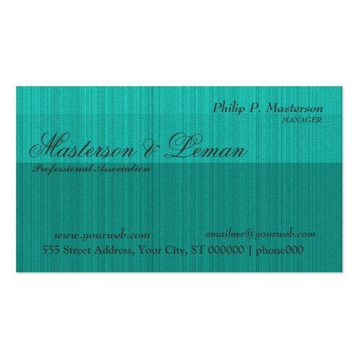 Male  Hunter green Textured  Monogram  Designs Business Card Template