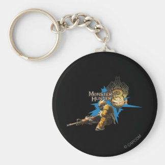 Male Hunter with Bowgun, Heavy Gunner with Ludroth Key Chain