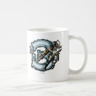 Male Hunter with Bowgun, Steel Armor Coffee Mug