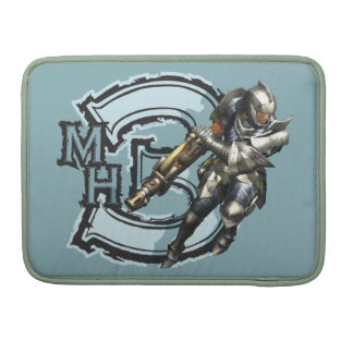 Male Hunter with Bowgun, Steel Armor Sleeve For MacBook Pro