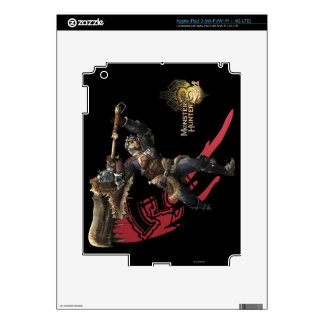 Male Hunter with great sword & hunter's armor iPad 3 Decal