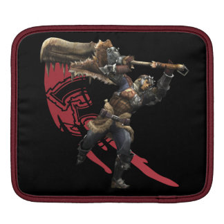Male Hunter with great sword & hunter's armor Sleeve For iPads