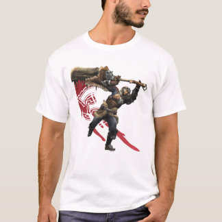 Male Hunter with great sword & hunter's armor T-Shirt
