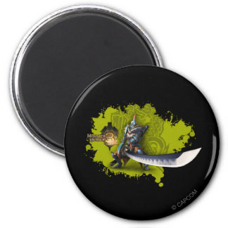 Male hunter with long sword & lagiacrus armor 2 inch round magnet
