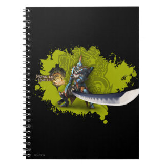 Male hunter with long sword & lagiacrus armor 2 spiral note book