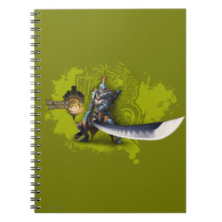 Male hunter with long sword & lagiacrus armor 3 notebook