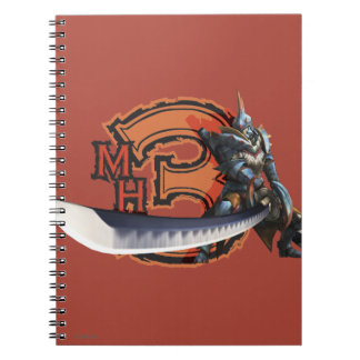 Male hunter with long sword & lagiacrus armor 4 spiral note book