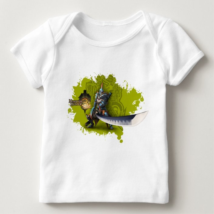 Male Hunter With Long Sword Lagiacrus Armor Baby T Shirt Zazzle Com