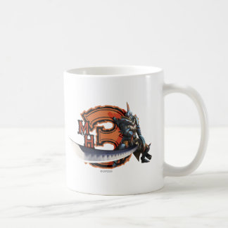 Male hunter with long sword & lagiacrus armor classic white coffee mug