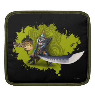 Male hunter with long sword & lagiacrus armor iPad sleeve