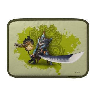 Male hunter with long sword & lagiacrus armor MacBook sleeve