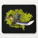 Male hunter with long sword & lagiacrus armor mouse pad