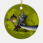 Male hunter with long sword & lagiacrus armor christmas ornaments