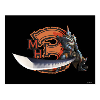 Male hunter with long sword & lagiacrus armor postcard