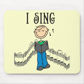 Male I Sing T-shirts and Gifts Mouse Pad