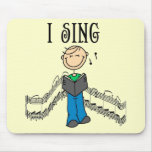 Male I Sing T-shirts and Gifts Mousepads
