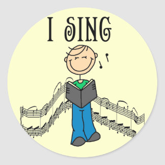 Male I Sing T-shirts and Gifts Classic Round Sticker