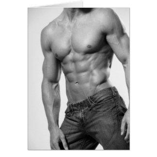 Male In Jeans Notecard