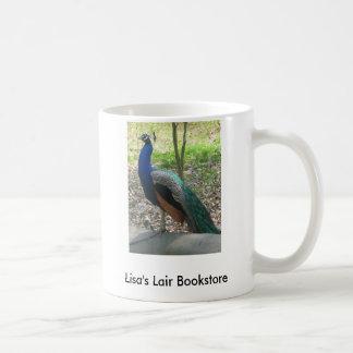 Male Indian Peacock Bookstore Promo Coffee Mugs
