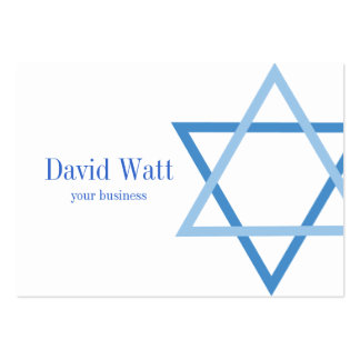Male Jewis Star of David Business Card