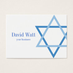 Male Jewis Star Of David Business Card at Zazzle