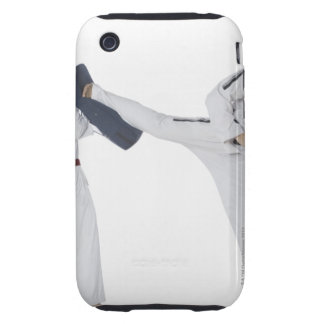 Male karate instructor teaching martial arts to 2 iPhone 3 tough cover