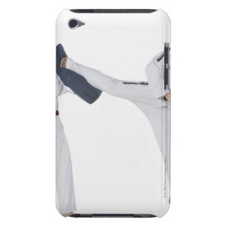 Male karate instructor teaching martial arts to 2 iPod Case-Mate cases