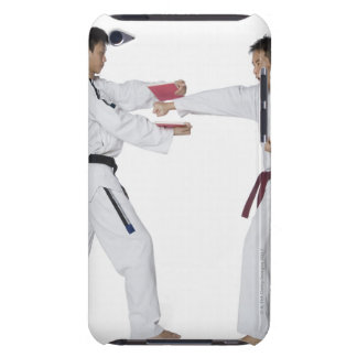 Male karate instructor teaching martial arts to iPod touch case