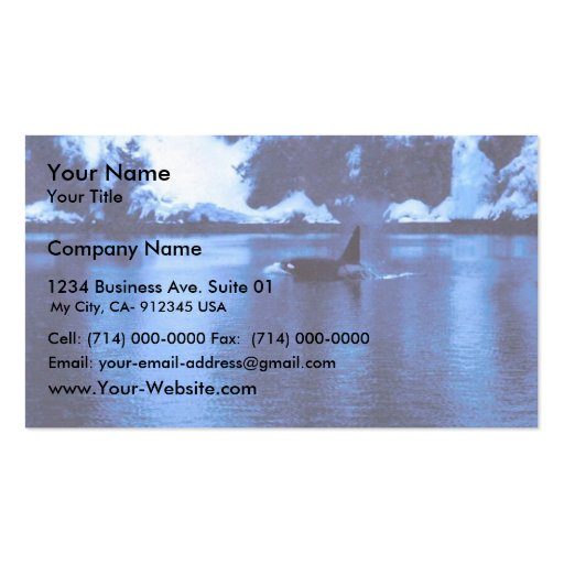 Male Killer Whale Double-Sided Standard Business Cards (Pack Of 100)