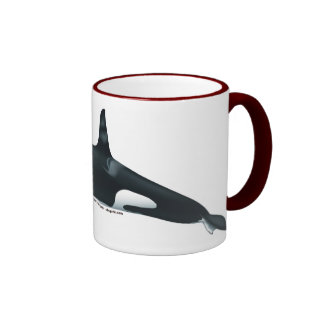 Male Killer Whale Ringer Mug