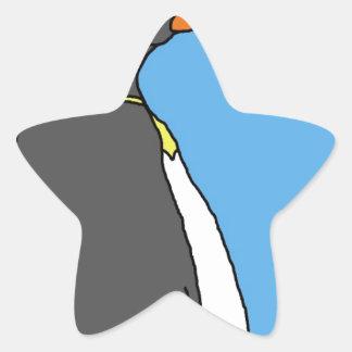 Male King Penguin Star Sticker