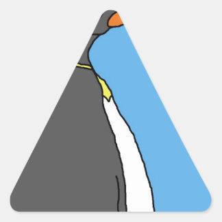 Male King Penguin Triangle Sticker