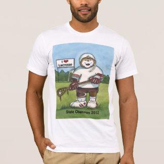 Male Lacrosse T-Shirt - Maroon & White