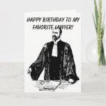 Male Lawyer Birthday Card