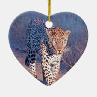 Male Leopard Ceramic Ornament