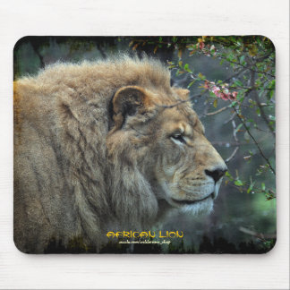 Male Lion Big Cat Wildlife-lover Photo Mousepad