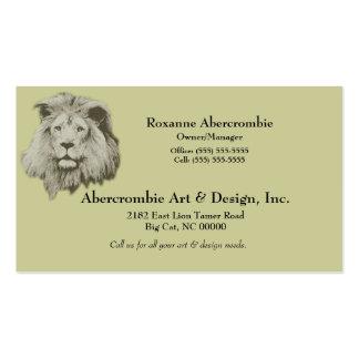 Male Lion Business Card