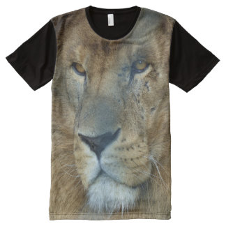 Male Lion (Loewe), All-Over Printed Panel All-Over Print T-shirt