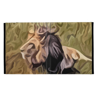male lion painting iPad cases