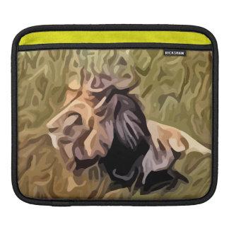 male lion painting iPad sleeves