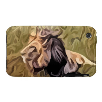 male lion painting iPhone 3 cover