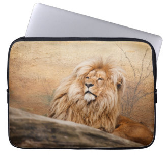 Male Lion Photo Laptop Sleeve
