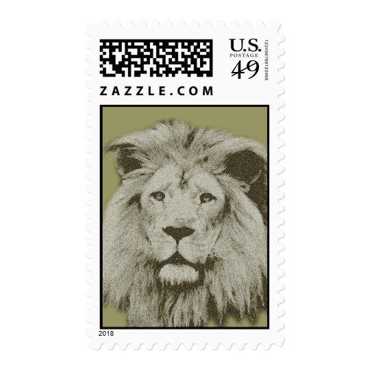 Male Lion Postage
