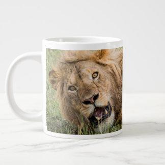 Male Lion Resting Large Coffee Mug
