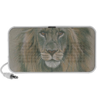 Male Lion With Beautiful Mane Portable Speaker